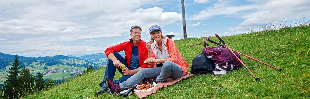 Pause am Hündle-Gipfel © Oberstaufen Tourismus Marketing GmbH