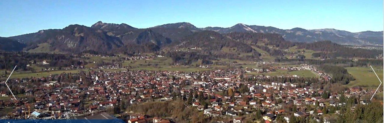 Panoramakamera Oberstdorf Schanze Herbst Winter