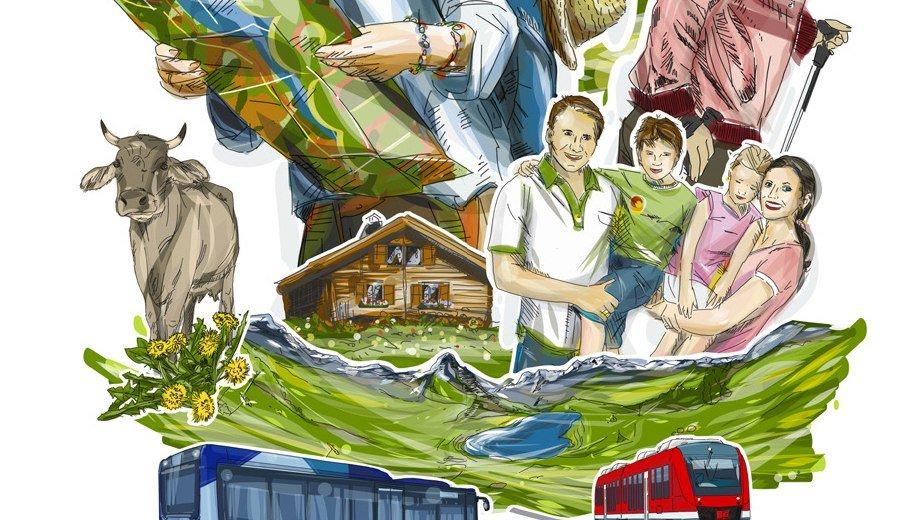 Titel Wandern mit Bus und Bahn im Oberallgäu © Landratsamt Oberallgäu