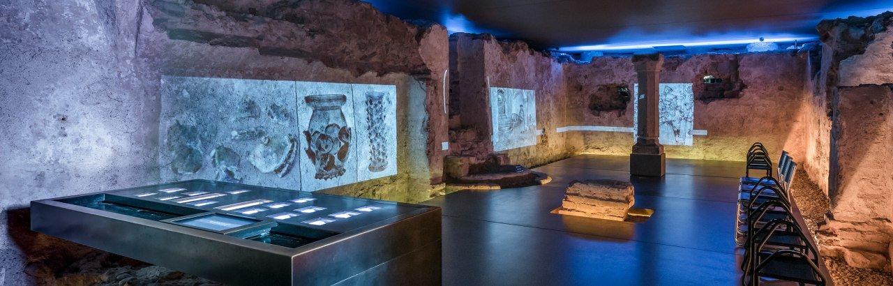 unterirdischer Schauraum Erasmuskapelle © Kempten Tourismus / Günter Standl