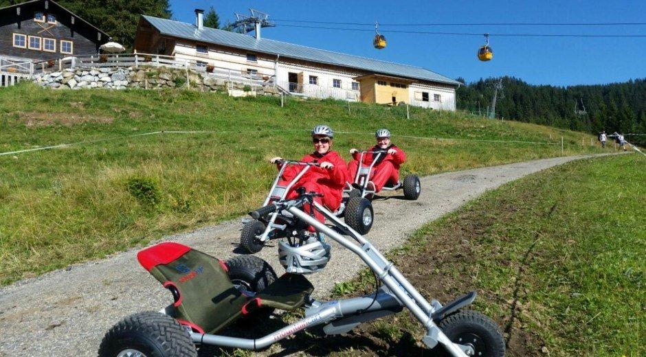 Mountaincart fahren an der Hörnerbahn © Tourismus Hörnerdörfer