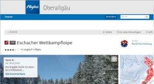 Tourenplaner Oberallgäu Loipe