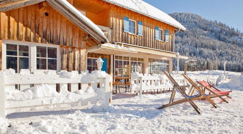 Liegestühle im Sonnenschein in Balderschwang im Al © Schwabenhof