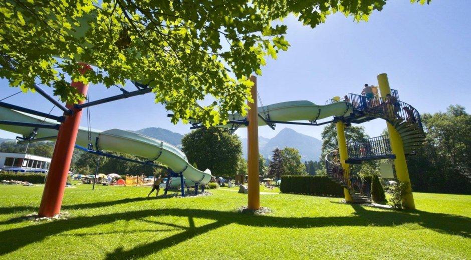 58-Meter lange Wasserrutsche - Freibad Fischen © Tourismus Hörnerdörfer, R. Retzlaff