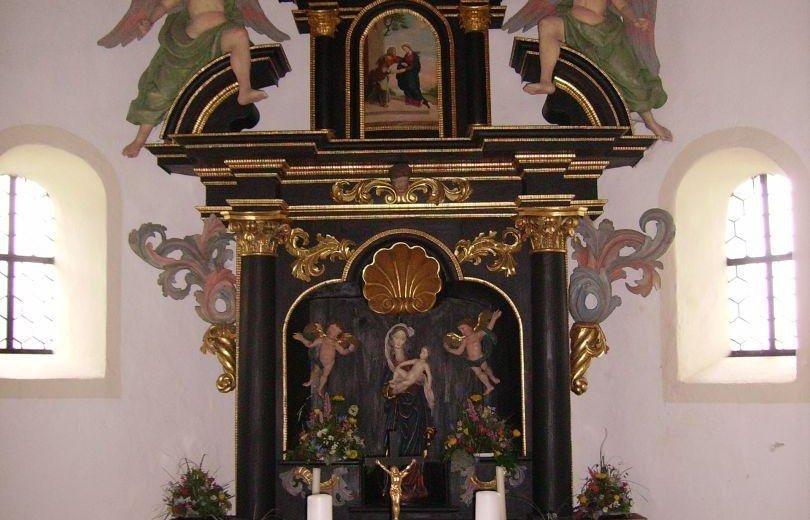 Der Barockaltar in der Kierwanger Kapelle © Tourismus Hörnerdörfer