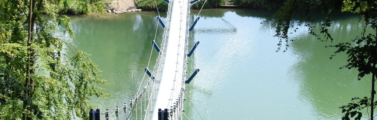 Hängebrücke über die Iller © Markt Altusried