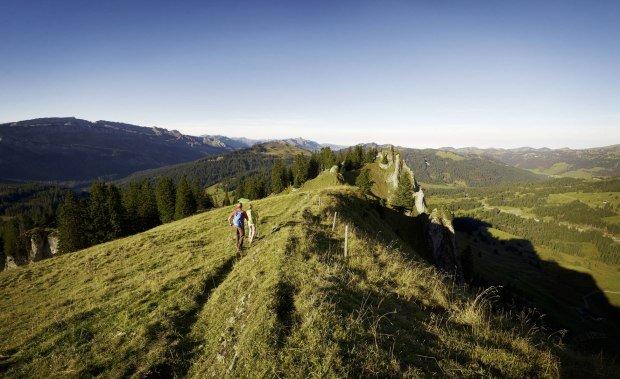 Wanderer im Naturpark Nagelfluhkette © Allgäu GmbH