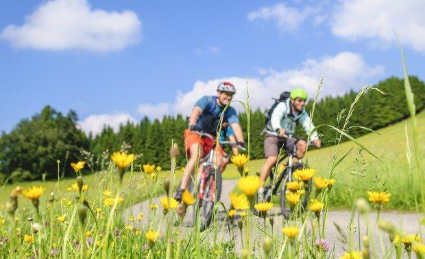 Fahrradtour im Frühjahr durch die oberallgäuer Landschaft mit dem Mountainbike © Alexander Rochau