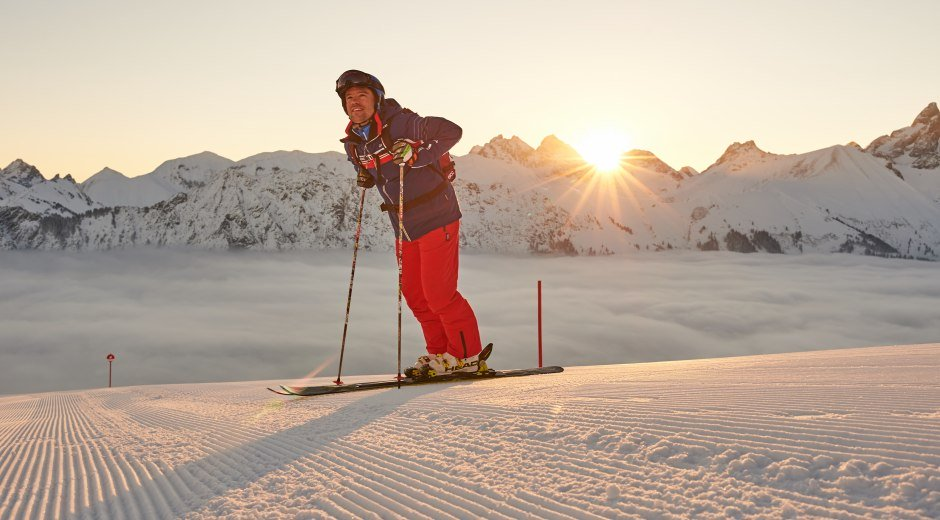 Besser kann ein Tag kaum beginnen © Oberstdorf / Kleinwalsertal Bergbahnen Fotograf: Christian Seitz