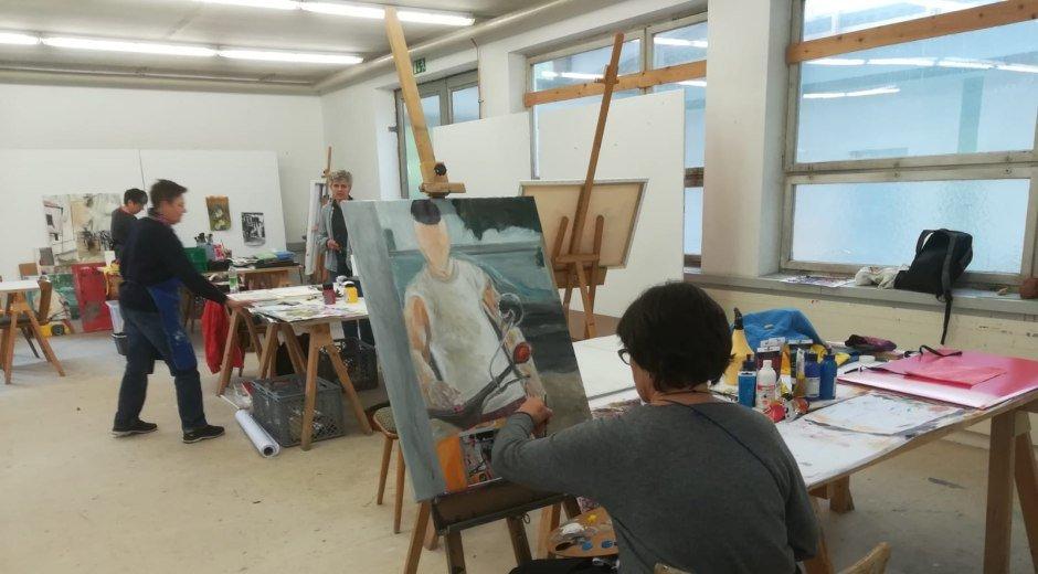 Malkurs mit Edith Oellers an der Kunstakademie Allgäu © Kunstakademie Allgäu