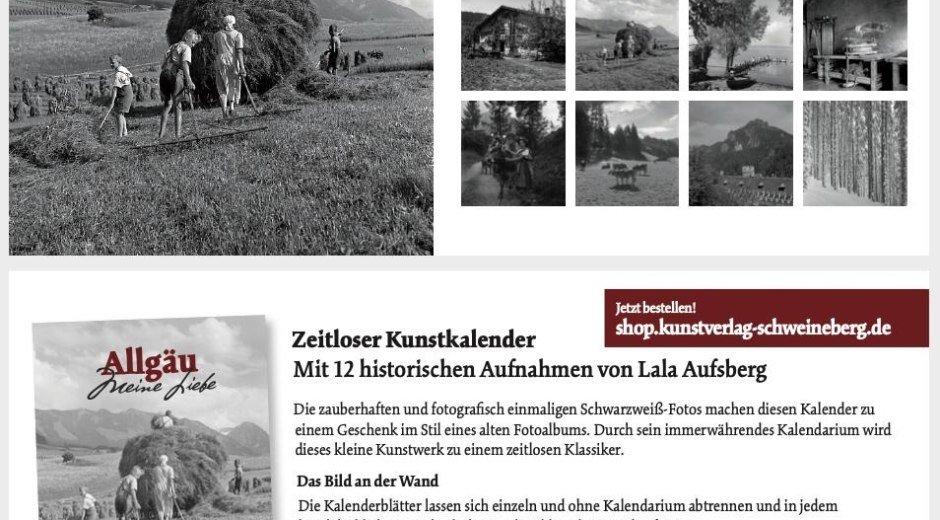 Allgäu - meine Liebe - zeitloser Kunstkalender © Kunstverlag Schweineberg