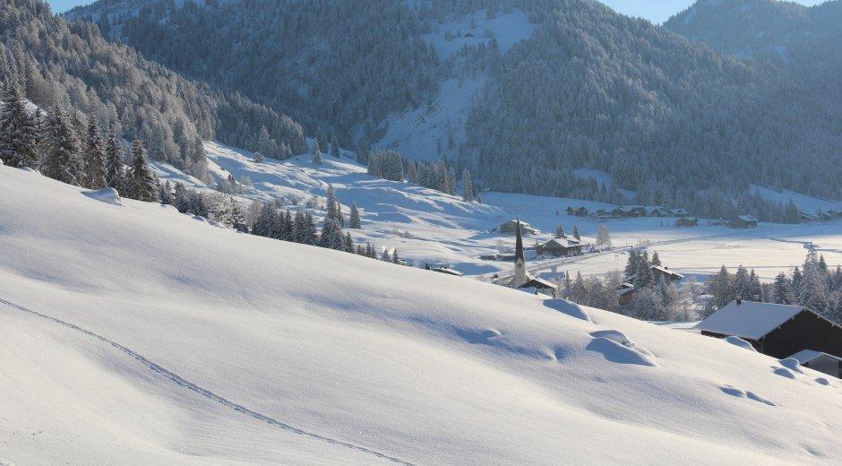Balderschwang-Winter Dorfansicht © Tourismus Hörnerdörfer GmbH