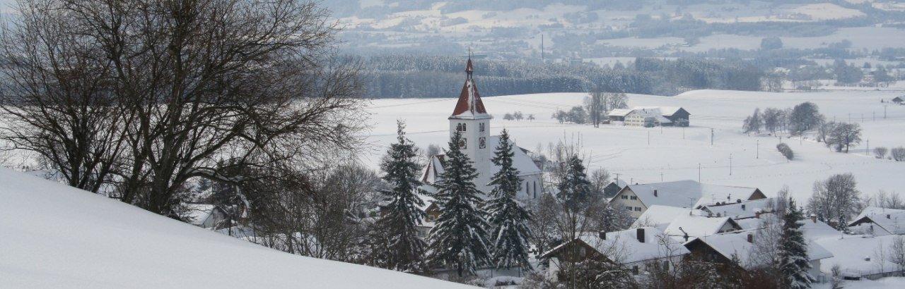 Haldenwang im Winter © Gemeinde Haldenwang