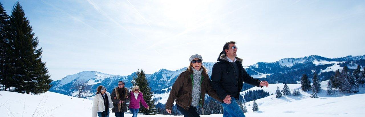 Winterwandern in Oberstaufen © Oberstaufen Tourismus Marketing GmbH