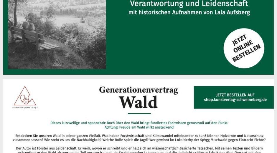 Generationenvertrag Wald mit historischen Bildern © Kunstverlag Schweineberg