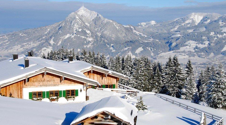 Weltcup Hütte in Ofterschwang im Allgäu © Tourismus Hörnerdörfer, S. Bruckmeier