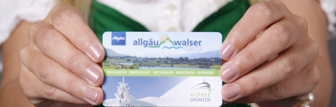 Allgäu-Walser-Card - Karte © Oberallgäu Tourismus Service GmbH