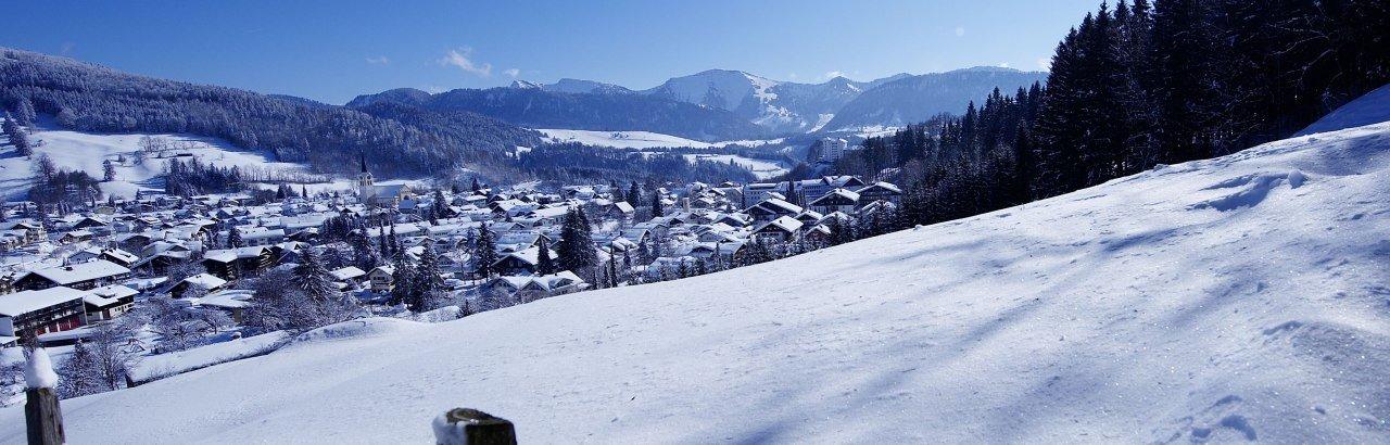 Winterpanorama in Oberstaufen © Oberstaufen Tourismus Marketing GmbH