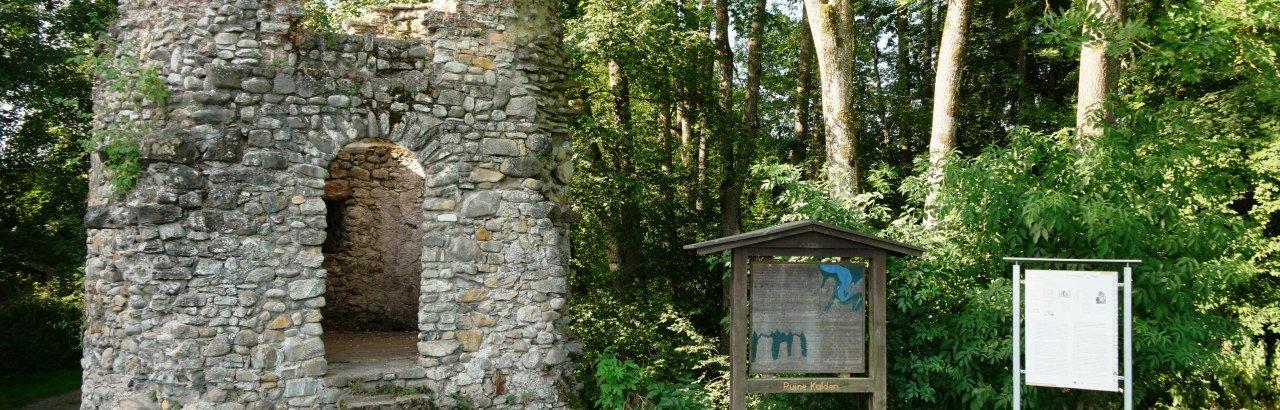 Burgruine Kalden am Illerradweg bei Altusried © Reinhard Walk