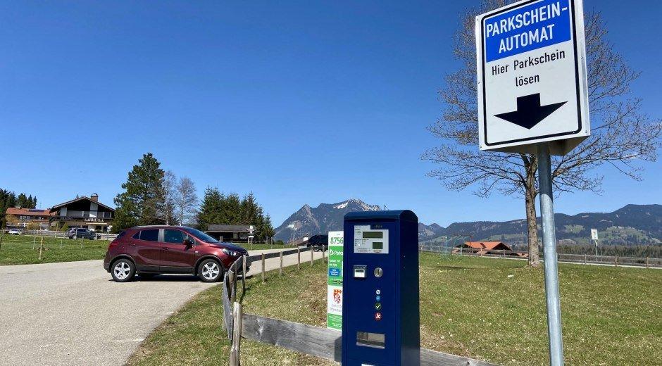 Parkplatz Tiefenberg © Tourismus Hörnerdörfer