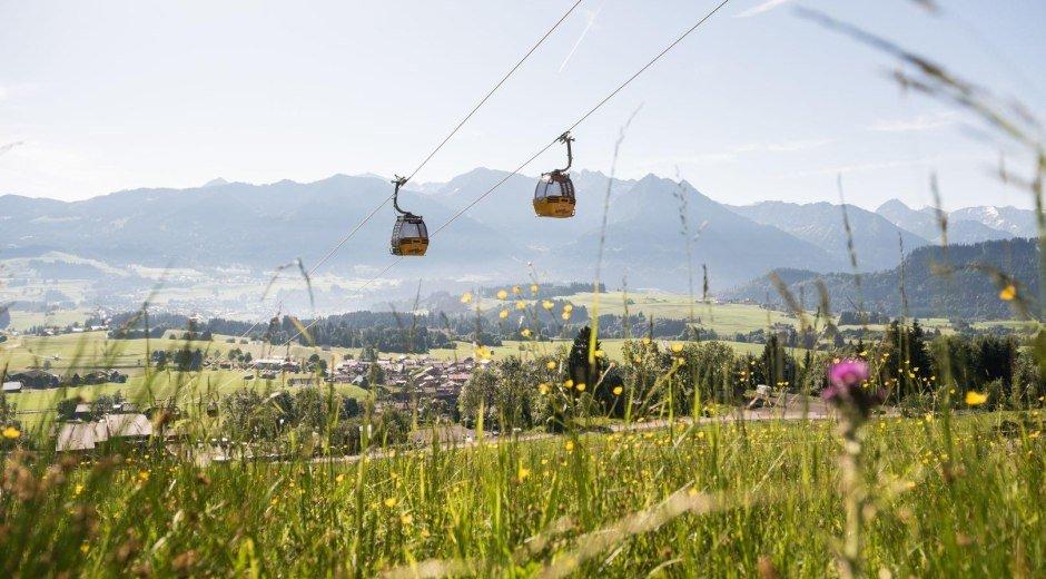 Bergfahrt mit der Hörnerbahn in Bolsterlang © Tourismus Hörnerdörfer, F. Kjer