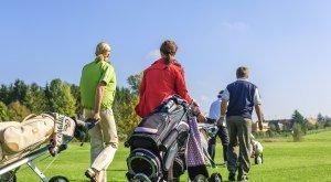 Golfer auf einem oberallgäuer Golfplatz auf dem Flight zum nächsten Abschlag., © Alexander Rochau