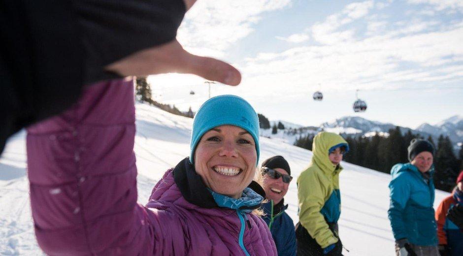 Rodeln im Skigebiet Ofterschwang © Tourismus Hörnerdörfer, F. Kjer